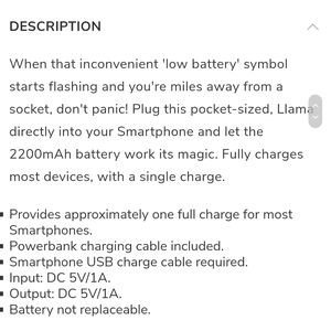 llama Other - Llama power bank NEW